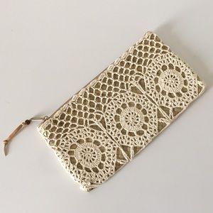 2/$15 Boho Crocheted Clutch